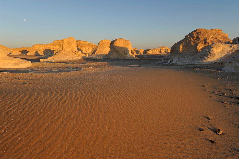 Sunset on the White desert, Sahara desert, Egypt